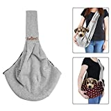 TopDirect Pet Sling Carrier, Dog Sling Bag Shoulder Carry Bag Double-sided Pouch Single Shoulder Bag Dog Travel Carrier Bag
