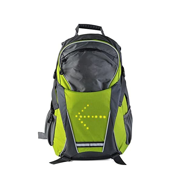 ihuniu,inc. LED Turn Signal Light Reflective Vest Backpack/Business/Travel/Laptop/School Bag Sport Outdoor Waterproof for Night Cycling Safety