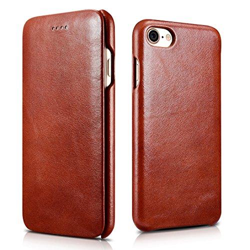 FUTLEX iPhone 8 iPhone 7 Vintage Style Echtleder Folio-Case - Braun - Einzigartiges Design - Präziser Schnitt und präzises Design - Handgearbeitet Braun