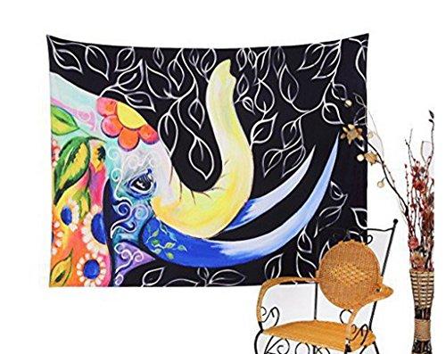 Xaing Ru 150* 130cm Algodón pared–Alfombra Tapiz pared adornos Turquoise Tapestry, poliéster,...