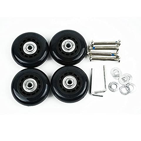 Lovinstar 4Pcs/Set Replacement Luggage Suitcase / Scooter Inline Skate Roller Replacement Wheels Axles and Wrench (60 Mm Skateboard Ruote)