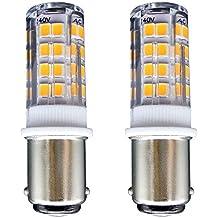 B15 Bombilla[2 unidades]SFTlite SBC Ba15D 4W LED Bombilla Blanco Cálido 3000K–