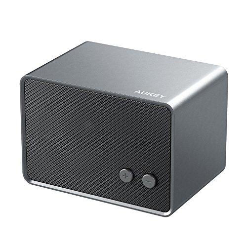 AUKEY-Altoparlante-Bluetooth-Ricaricabile-Portatile-con-Ingresso-Aux-In-Wireless-Speaker-Compatibile-con-Smartphone-Tablet-Grigio