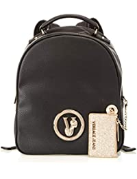 Versace Jeans - Ee1vsbbv3, Mochilas Mujer, Negro (Nero), 12x27.5x23 cm (W x H L)