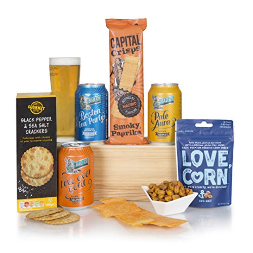 Craft Beer and Snacks Hamper, Beer Hampers, Gift, Craft Ale Gifts and Hamper Box