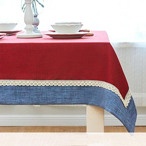 Lying Fangma Littérature et art Couleur solide Salle de séjour moderne Table basse Rectangulaire Nacelle occidentale Nappe Tissu Tissu Tissu en tissu - Décoration de table ( Couleur : #2 , taille : 90*145CM )