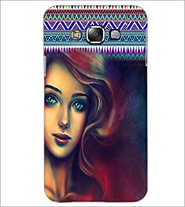 PrintDhaba Beautiful Girl D-5623 Back Case Cover for SAMSUNG GALAXY E7 (Multi-Coloured)