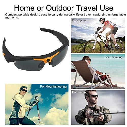 YOURAN Wearable Camera HD 1080P Sport-Sonnenbrille Eyewear Camcorder 170 ° Weitwinkel 12.0MP Objektiv Webcam-Video-Sprachaufnahmekamera mit Fernbedienung für den Außenbereich