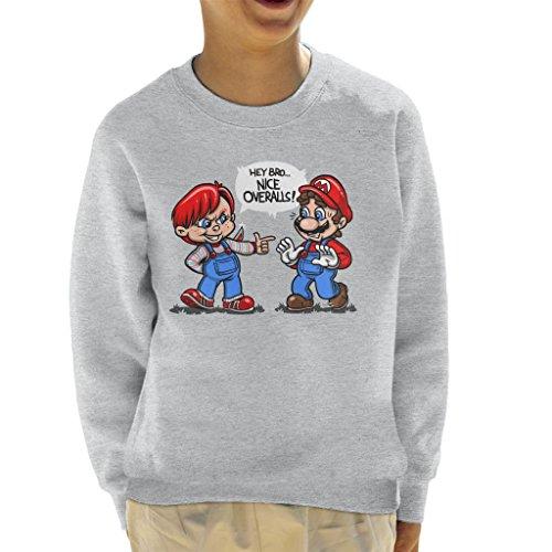 Cloud City 7 Nice Overalls Chucky And Super Mario Kid's Sweatshirt