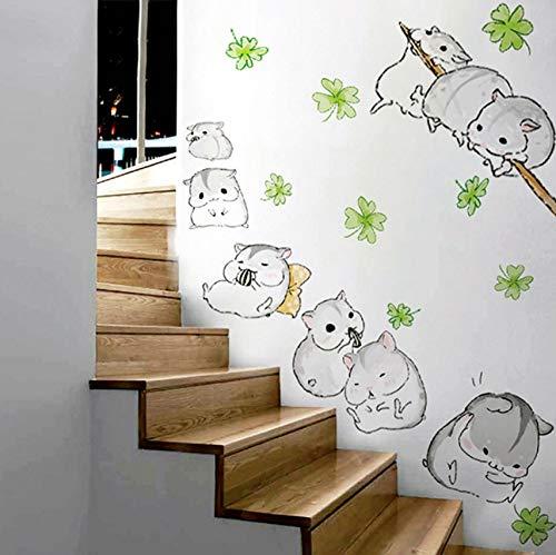 amster Totoro Wandaufkleber Kinder Kinderzimmer Kinder Zimmer Cartoon Kawaii Wandbilder Schöne Anime Meerschweinchen Wallpaper Home Decor ()