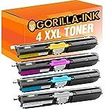 Gorilla-Ink® 4x Laser-Toner XXL kompatibel zu Konica Minolta 1600 Magicolor 1600 W 1650 EN 1650 EN D 1650 EN DT