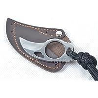 Couteau en acier de griffe de doigt de couteaux crochet outil de lame de lame fixe pour la chasse de camping en plein air