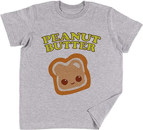 Couple - Peanut Butter (& Jelly) Kinder Jungen Mädchen Unisex T-Shirt Grau