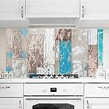Bilderwelten Crédence en verre - Maritime Planks - Paysage 1:2, peinture murale revetement mural cuisine dosseret de cuisine impression sur verre fond de cuisine, Dimension: 59cm x 120cm