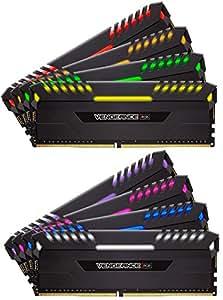 Corsair VENGEANCE RGB 128GB (8x16GB) DDR4 3800 (PC4-30400) C19 - Intel X99/X299 PC Memory CMR128GX4M8X3800C19