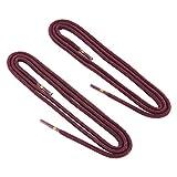 REMA 1 Paar Schnürsenkel - rund - dünn - Ø 2,5 mm in verschiedenen Farben und Längen (75 cm, Bordeaux)