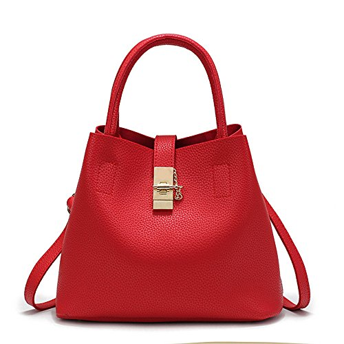 Meaeo Shoulder The New Trend Of Large Capacity All-Match Fashion Soft Handbag,Gules
