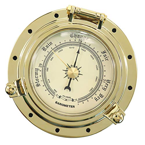 Baoblaze Gold Vintage Barometer Barometer Kompensierte Boot Schiff Rad Nautisch barometrischen