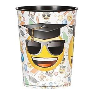 16oz Emoji graduación taza de plástico