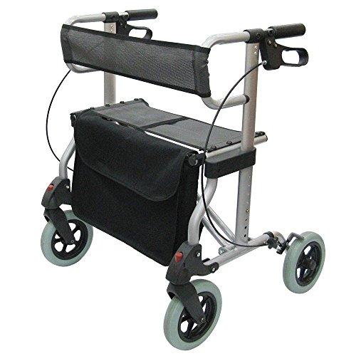 Rollator Magic XXL Leichtgewicht Laufhilfe Gehhilfe, faltbar, Sitz, große Tasche
