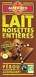 Alter Eco Tablette de Chocolat Lait Noisettes Entières Bio et Equitable 100 g