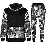Vêtements de sport pour enfants avec chandail à capuchon et sweatpants (11-12 Years, Army Noir)