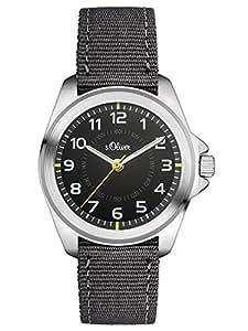 s.Oliver - SO-3131-LQ - Montre Mixte - Quartz - Analogique - Bracelet Textile gris