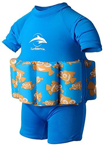 Konfidence FloatMaillot de bain Bouée intégrée Entraînement de natation, Float, Cyan/Poisson clown