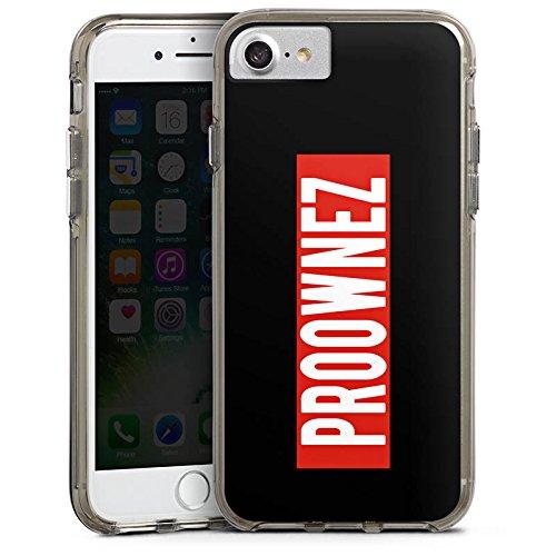 Apple iPhone X Silikon Hülle Case Schutzhülle Proownez Fanartikel Merchandise Youtuber Bumper Case transparent grau