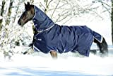 Horseware Rambo DUO Weidedecke mit Halsteil Navy/Braun 145