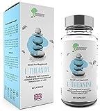 Feines L-Theanin | ltheanine | 400mg Dosis | 60 L-Theanine-Kapseln | vegan & glutenfrei | GMP-Standards | Geld-zurück-Garantie | von Brainpower Nootropics®