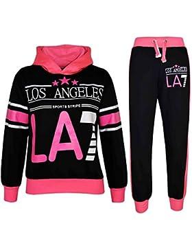 A2Z 4 Kids Kinder Mädchen Sportanzug LOS ANGELES LA7 Aufdruck Kapuzenpulli & Hosen Jogginganzug 7 8 9 10 11 12...
