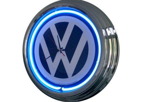 Neon Uhr VW Wanduhr Deko-Uhr Leuchtuhr USA 50's Style Retro Uhr Neonuhr