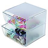 Deflecto DE350101Organizer-Box mit 2Schubladen