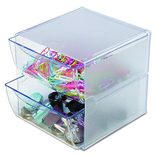 2 Schubladen Cube (Deflecto DE350101Organizer-Box mit 2Schubladen)