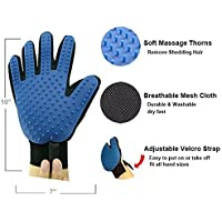 RIANZ Dog Hair Cleaning Comb/Animal Massage/Cat Grooming/Deshedding Brush Bath Gloves (1pc) Multi-Color