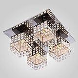 Lampop Lampada a Sospensione Elegante Lampada da Soffitto in Cristallo Moderna con 4 * E27 * Led Massimo 40W