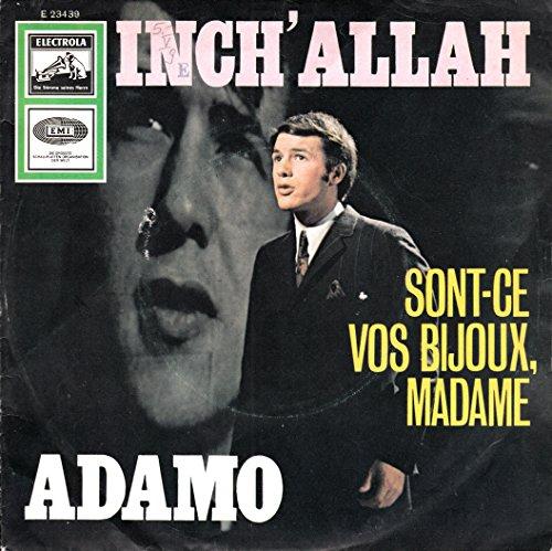 """ADAMO / INCH´ALLAH / SONT-CE VOS BIJOUX, MADAME / Bildhülle mit ORIGINAL ELECTROLA Kunststoff-AUSSENHÜLLE / ELECTROLA # E 23 439 / 23439 / Deutsche Pressung / 7"""" Vinyl Single-Schallplatte"""