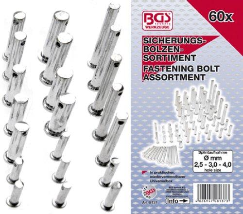 BGS Sicherungsbolzen-Sortiment, 60-teilig, 1 Stück, 8137