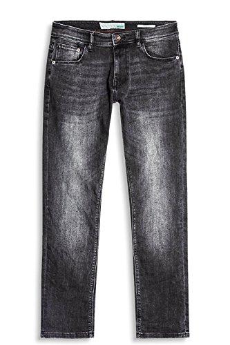 ESPRIT Herren Straight Jeans Schwarz (Black Dark Wash 911)