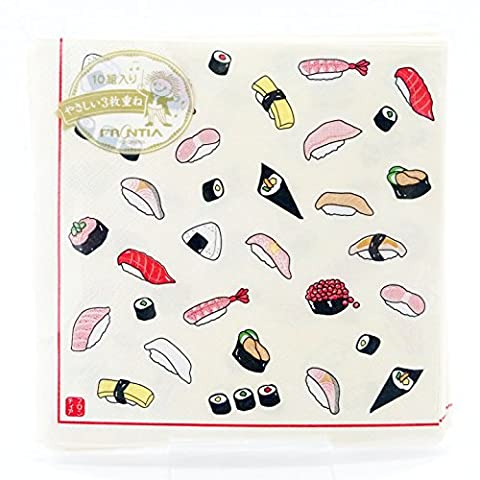 Frontier Ensemble de Serviette de Serviette Papier Traditionnel japonais Pack of 10 - Japan Import - Sushi PNK-050