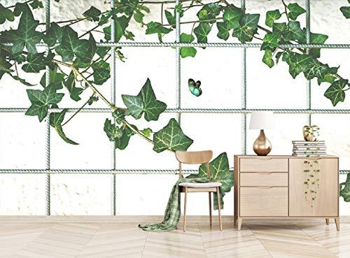 Fototapete 3D Effekt Vlies Tapete Moderne Einfaches Nordic Kleine Frische Grüne Pflanzen Von Ivy Tapeten Wandbilder Wohnzimmer Ivy Vintage Tapete