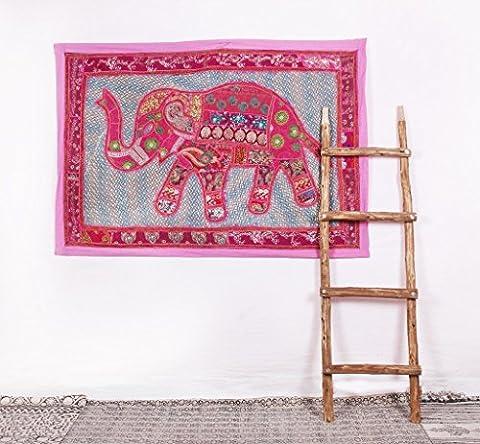 Dekorative Elephant Zari bestickt Patchwork Home D & # x17d, COR Mauer, Wandbehang