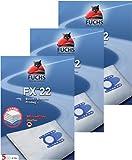 3 Pakete FXpro 22: 15 Staubsaugerbeutel, 3 Luftfilter, 3 Motorfilter für Bosch / Siemens VS 06G2410, Synchropower, Dino,Super XS Dino, Typ D E F G, Original Gr. 51 AFG / 1, 52 AFEFD, Super XS, Super XXS, VS10000 ... 10999