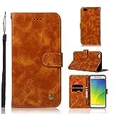 kelman Hülle für Oppo R9s Plus/Oppo F3 Plus Hülle Schutzhülle PU Leder + Soft Silikon TPU Innere Schale Brieftasche Flip Handyhülle - [JX04/Golden]