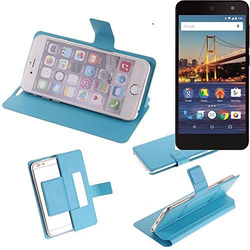 K-S-Trade Flipcover für General Mobile 4G Schutz Hülle Schutzhülle Flip Cover Handy case Smartphone Handyhülle blau