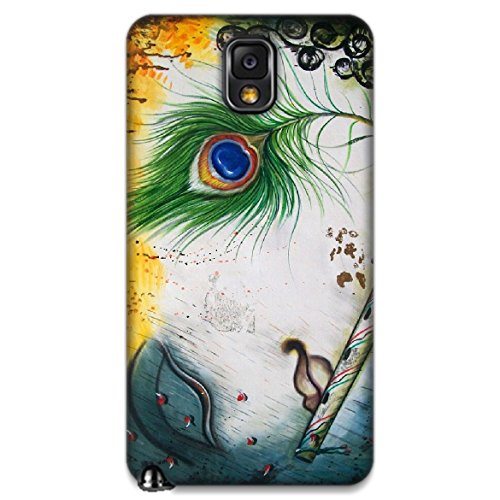The Racoon Grip printed designer hard back mobile phone case cover for Samsung Galaxy Note 3. (Krishna)  available at amazon for Rs.99