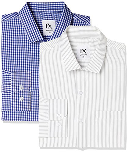 Excalibur by Unlimited Men's Solid Regular Fit Formal Shirt (Pack of 2) (275367311 ASSORTED 40)