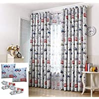 John Aird Cars Thermal Blockout Eyelet Curtain Set Cushion Covers And Tie Backs Included