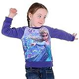 Girls Official Disney Frozen Elsa Purple Christmas Xmas Jumper Sweater Ages 2-3